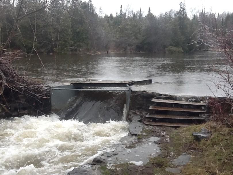 Upper Dam during high flow